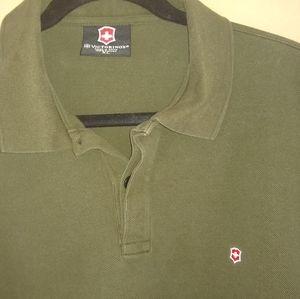 Victorinox Men's Olive Green Polo Sz XL